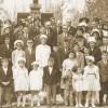 Famille Veilleux lors de l'enterrement de Delvina Gagnon-Veilleux à Causapscal en 1963