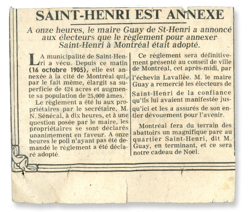 Eugene St-Henri - Annexion LaPresse